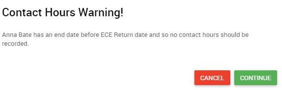 ECE Return weeks date