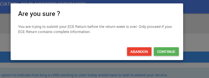 ECE return week