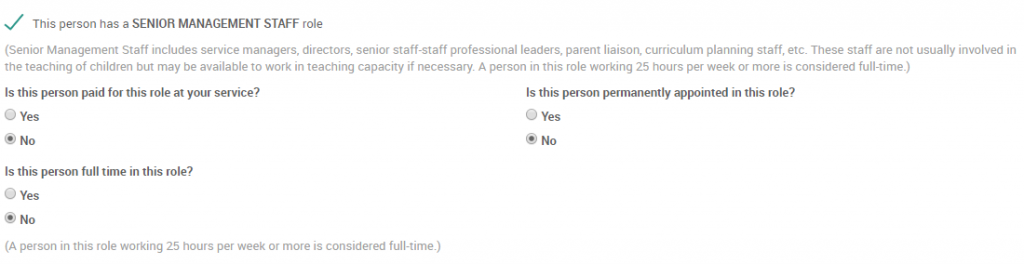 This person has a SENIOR MANAGEMENT STAFF
