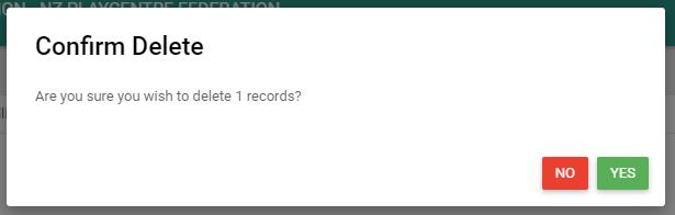 Confirming invoice Delete