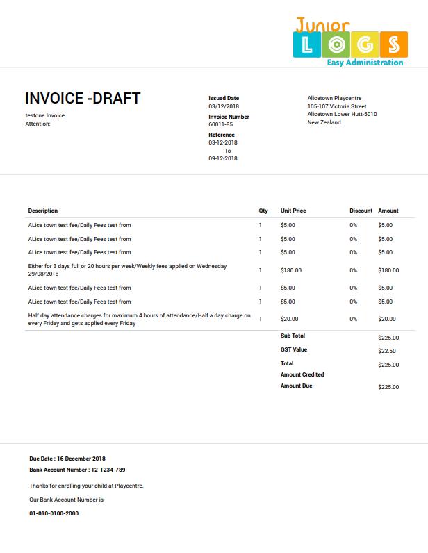 Invoice print