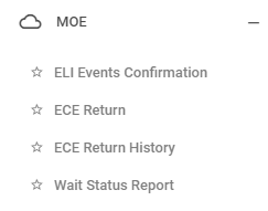 ECE Return menu option
