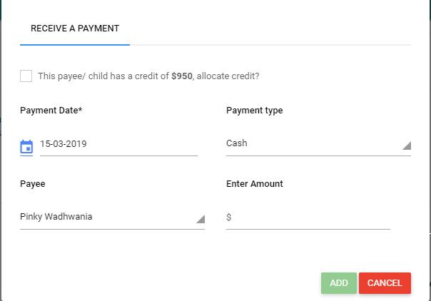 Receiving paymnet receipt