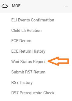 wait status report