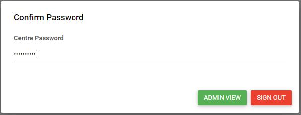 confirm admin password