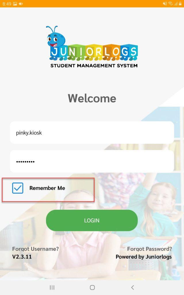Kiosk app for digital sign in